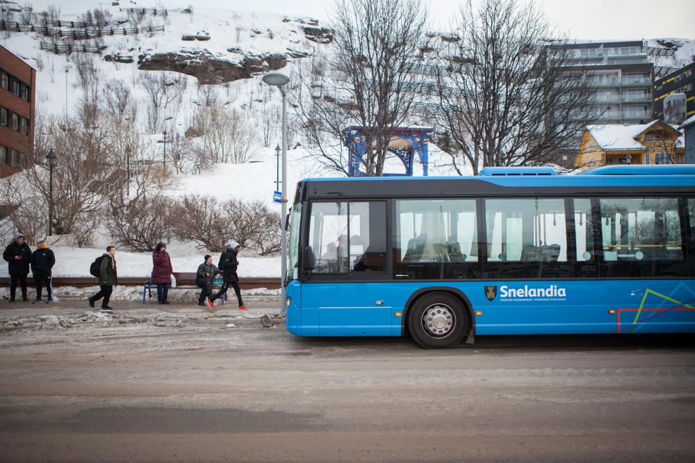 Endring av buss-trasé i Hammerfest sentrum