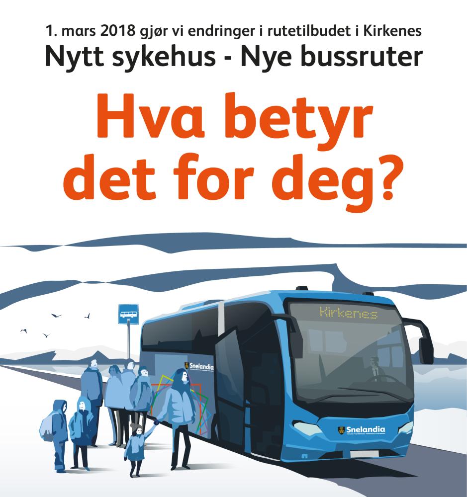 Ny ruteføring i Kirkenes